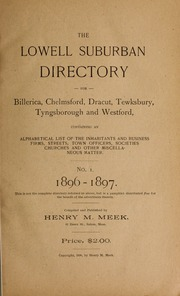 The Lowell suburban directory for Billerica, Chelmsford