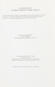 Catalogue of Lumber Company Store Tokens, Second Edition