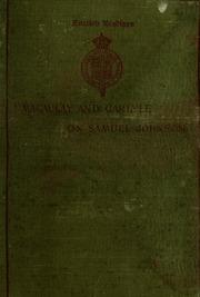 lord macaulay s essay on boswell s life of johnson macaulay macaulay s and carlyle s essays on samuel johnson