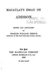 essays thomas macaulay