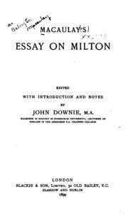 milton essay