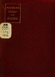 essay on john milton macaulay thomas babington macaulay baron  macaulay s essay on milton