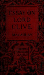 Macaulay's Essay on Lord Clive - PdfSR com
