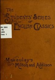 macaulay s essays on milton and addison macaulay thomas macaulay s essays on milton and addison