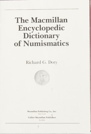 The Macmillan Encyclopedic Dictionary of Numismatics
