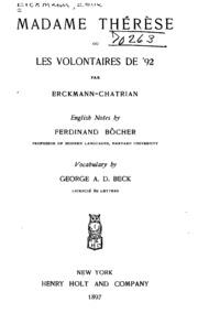 Madame Thérèse; ou, Les volontaires de -92