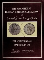 The Magnifiecent Herman Halpern Collection of United States Large Cents