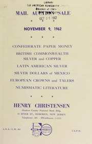 Mail auction sale ... [11/09/1962]