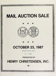 Mail auction sale ... [10/23/1987]