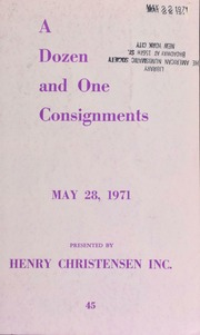 Mail auction sale : a dozen and one consignments ... [05/28/1971]