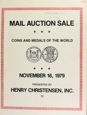 Mail auction sale : featuring coins, medals & paper money of the world.