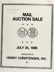 Mail auction sale : featuring the Santiago collection of Chilean coins ... [07/25/1986]
