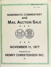 Mail auction sale : featuring coins, medals and banknotes of the world. [11/11/1977]