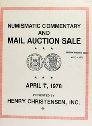 Mail auction sale : featuring coins, medals and banknotes of the world including Governor Charles Edison ... [04/07/1978]