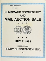 Mail auction sale : featuring ancient Greek, Roman republican and Roman imperial coins ... [07/07/1978]
