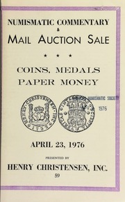 Mail auction sale including Brazillian banknotes : illustrated in the new Dale A. Seppa catalog ... [04/23/1976]