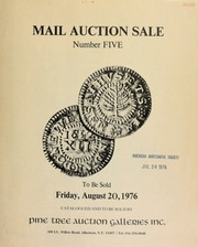 Mail auction sale number five ... [08/20/1976]