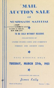 Mail auction sale of numismatic material. [03/27/1951]