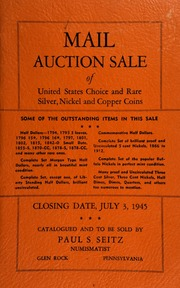 Mail auction sale of United States choice and rare silver, nickel and copper coins ... [07/03/1945]