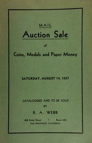 Mail auction sale of coins, medals and paper money. [08/14/1937]