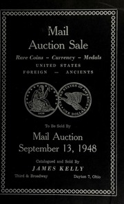 Mail auction sale : rare coins, currency, medals ... [09/13/1948]