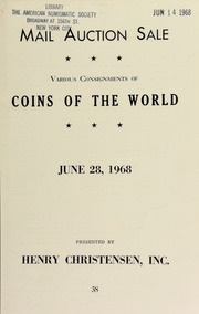 Mail auction sale : various consignments of coins of the world. [06/28/1968]