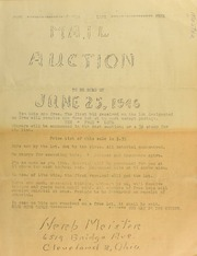Mail auction to be sold ... [06/25/1946]