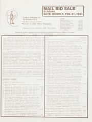 Mail Bid Sale: February 27, 1984