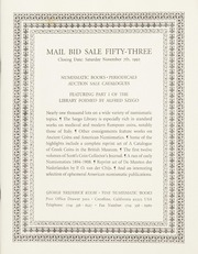 Numismatic Literature: Mail Bid Sale Fifty-Three