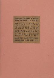 Rarities of American Numismatic Literature: Mail Bid Sale Fifty-Nine