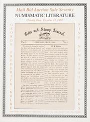 Numismatic Literature: Mail Bid Auction Sale Seventy