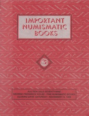Important Numismatic Books: Auction Sale Seventy-Nine