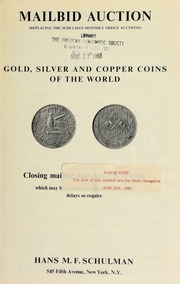 Mailbid auction : gold, silver and copper coins of the world. [06/12/1966]
