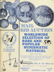 Mail bid auction : Worldwide selection of rare and popular numismatic material ... [09/30/1980]