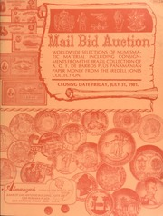 Mail bid auction : worldwide selections of numismatic material including consignments from the Brazil collection of A. O. F. De Barros plus Panamanian paper money from the Iredell Jones collection. [07/31/1981]