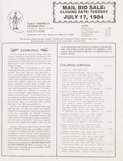 Mail Bid Sale: July 17, 1984