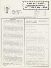 Mail Bid Sale: October 16, 1984