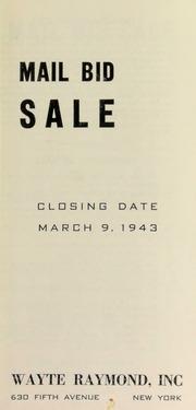 Mail bid sale. [03/09/1943]