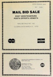 Mail bid sale ... [03/31/1979]