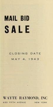 Mail bid sale. [05/04/1943]
