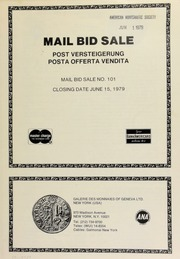 Mail bid sale ... [06/15/1979]