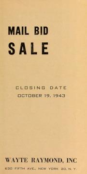 Mail bid sale. [10/19/1943]
