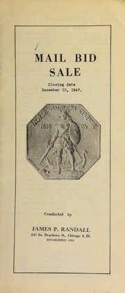 Mail bid sale ... [12/10/1947]