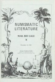 Numismatic Literature Mail Bid Sale X