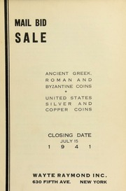 Mail bid sale : ancient Greek, Roman and Byzantine coins : United States silver and copper coins. [07/15/1941]