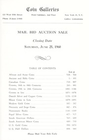 Mail Bid Sale... Ancient, Foreign, United States and Canadian, Gold, Silver and Copper Coins