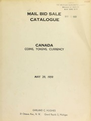 Mail bid sale catalogue : Canada : coins, tokens, currency. [05/29/1959]
