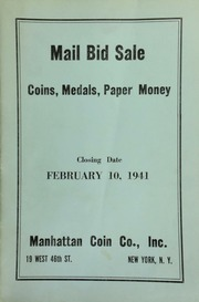Mail bid sale : coins, medals, paper money. [02/10/1941]