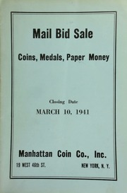 Mail bid sale : coins, medals, paper money. [03/10/1941]