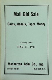 Mail bid sale : coins, medals, paper money. [05/21/1941]